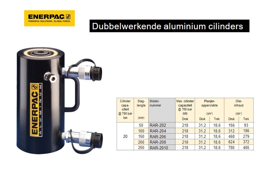 Enerpac RAR Dubbelwerkende aluminium cilinder
