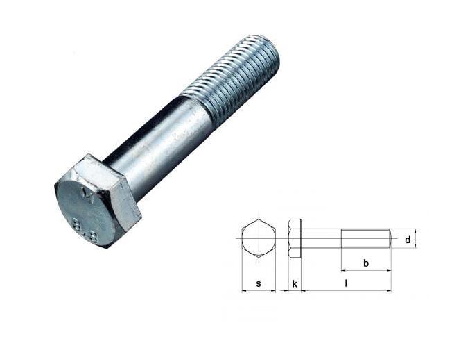 Zeskant bout Din931 8.8 EV M 6 X 45 - 200