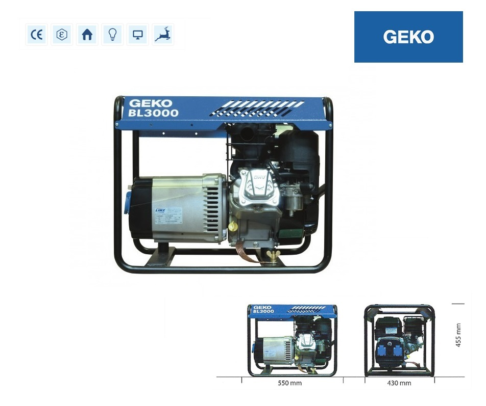 Basic Benzine Aggregaat BL3000 E-S/SHBA Geko 986251