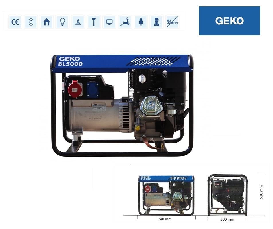 Basic Benzine AggregaatBL5000 ED-S/SHBA Geko 986255
