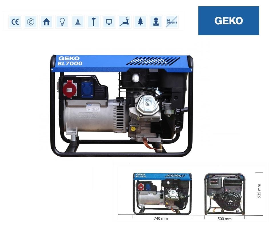 Basic Benzine AggregaatBL7000 ED-S/SHBA Geko 986257