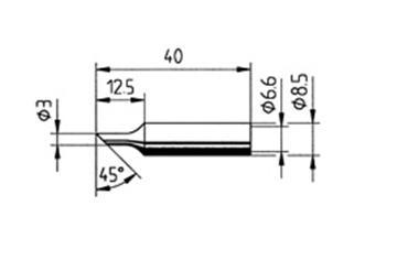 Ersa 832 TD LF Soldeerpunt schuin 3,0mm Ersa 832 TD LF/SB
