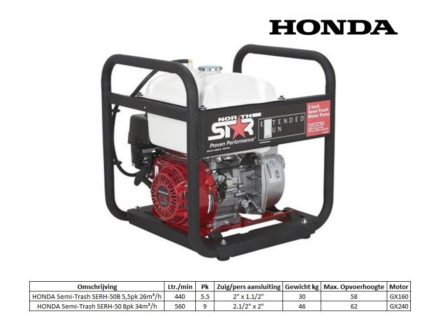 HONDA Semi-Trash SERH-50B 5,5pk 26m³/h