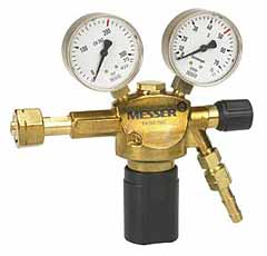 "Reduceerventiel Formeergas Flowmeter 0-30 l/min W21,8x 1/14"" LH female G 1/4LH x DN 6"