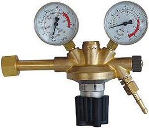 "Reduceerventiel ARGON/CO2 Manometer 0 - 22/32 l/min W 21,8 x 1/14"" female G 1/4 x DN 6"