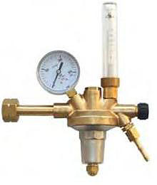 "Reduceerventiel ARGON/CO2 Flowmeter 0-20 l/min W 21,8 x 1/14"" female G 1/4 x DN 6"