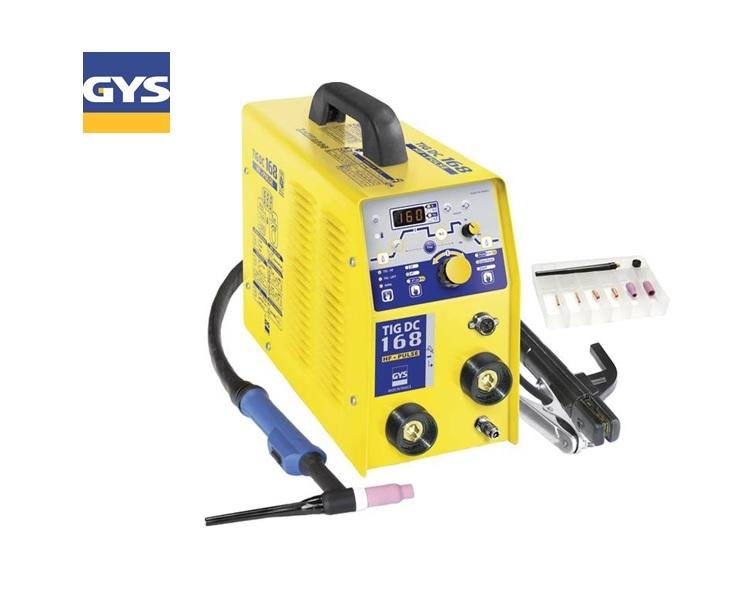 TIG-lasinstallatie TIG 168 DC HF gasgekoeld 230/50/60V/Hz 13kg