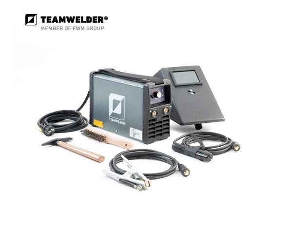 Elektroden-lasapparaat MMA 160 cel Set 10 - 150 A 1 x 230 V 4,8 kg Teamwelder