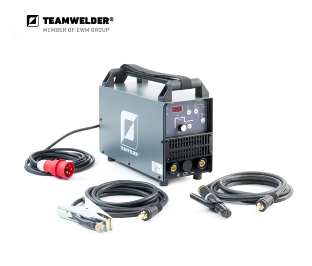 Elektroden-lasapparaat MMA 220 cel Set 10 - 220 A 3 x 400 V 8,9 kg Teamwelder