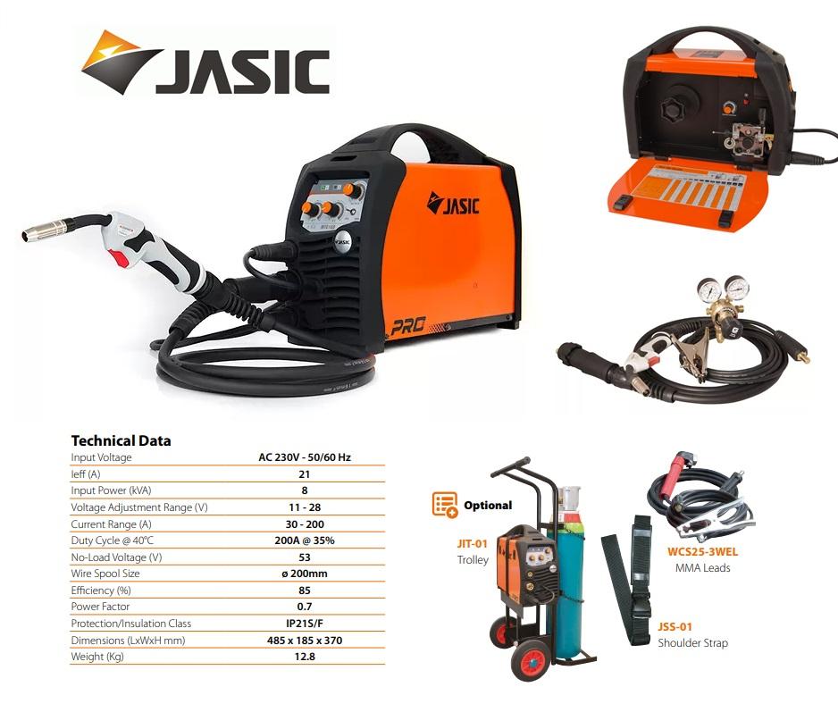 Jasic lasinverter MIG 200 230V