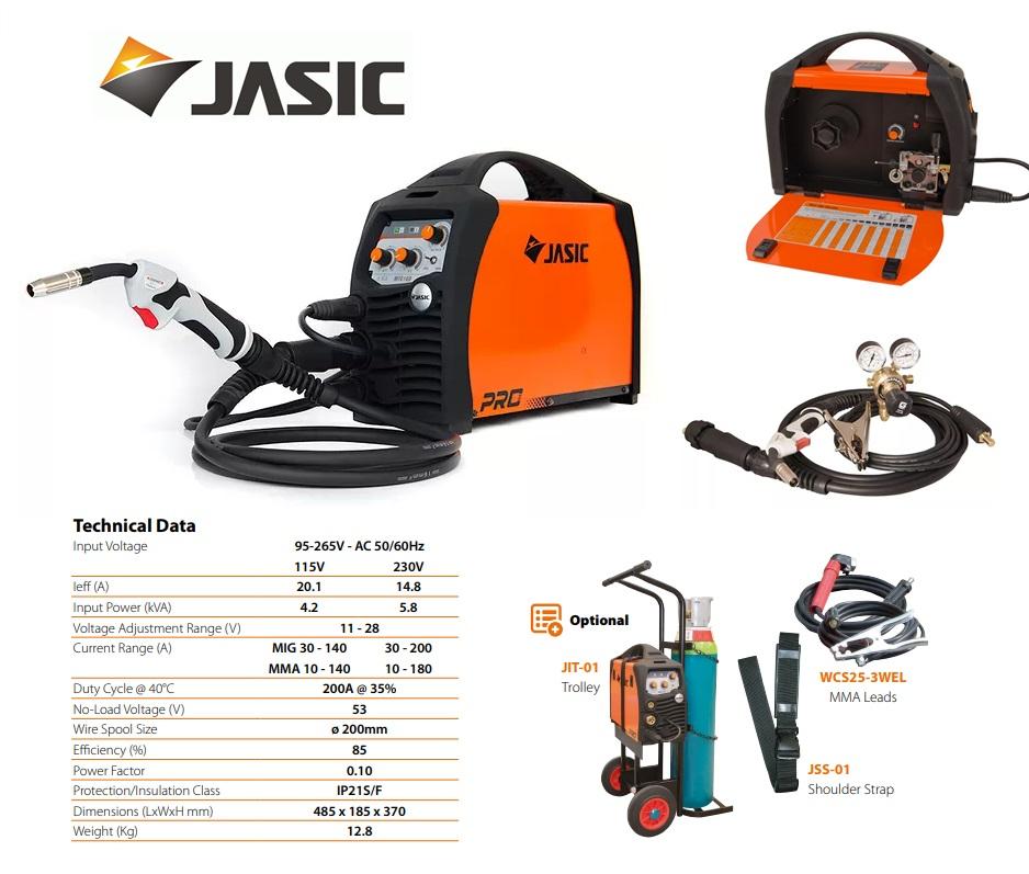 Jasic lasinverter MIG 200 Multi Process 230V