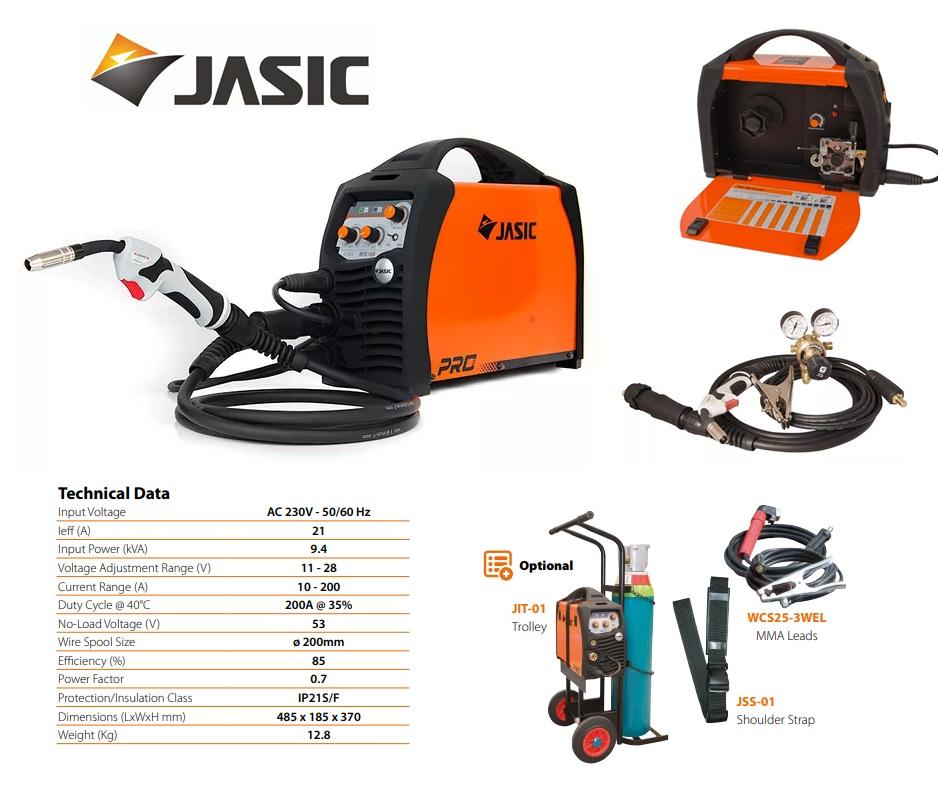 Jasic lasinverter MIG 200 Synergic Multi Process 230V