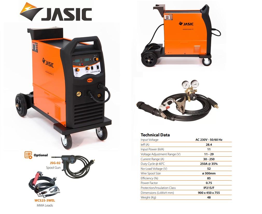 Jasic lasinverter MIG 250 Inverter Compact 230V