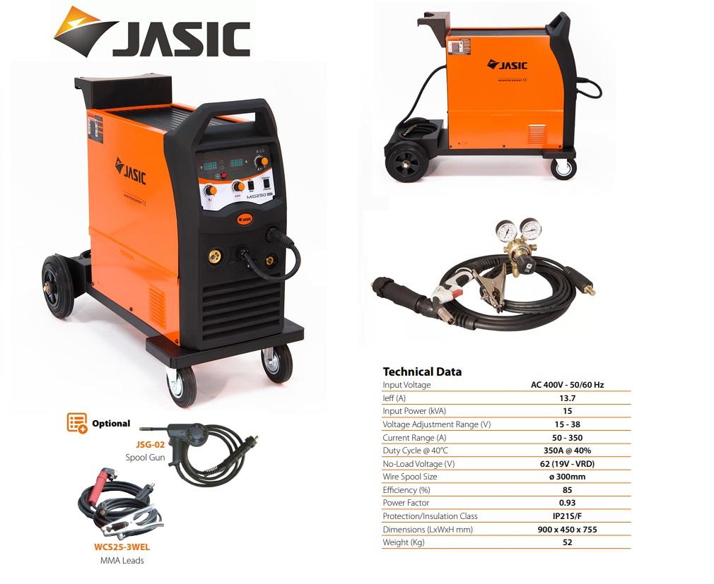 Jasic lasinverter MIG 350 Inverter Compact 400V