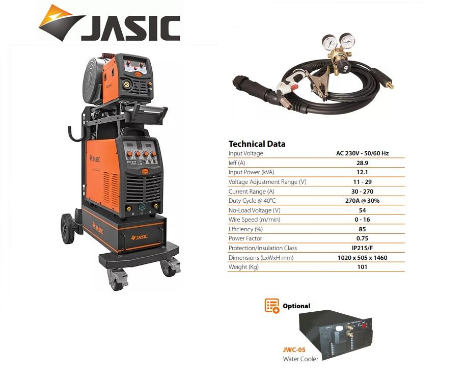 Jasic lasinverter MIG 270S met losse draadkoffer