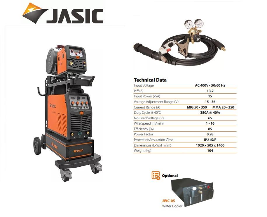 Jasic lasinverter MIG 350S met losse draadkoffer 400V