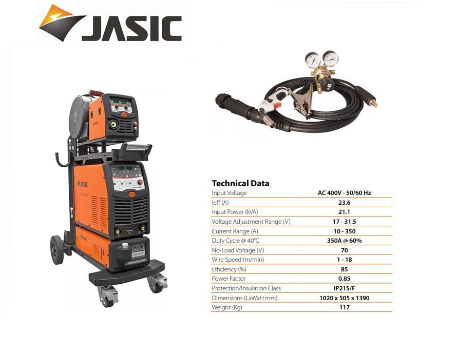 Jasic lasinverter MIG 350 Multi Process Separate Pulse 400V