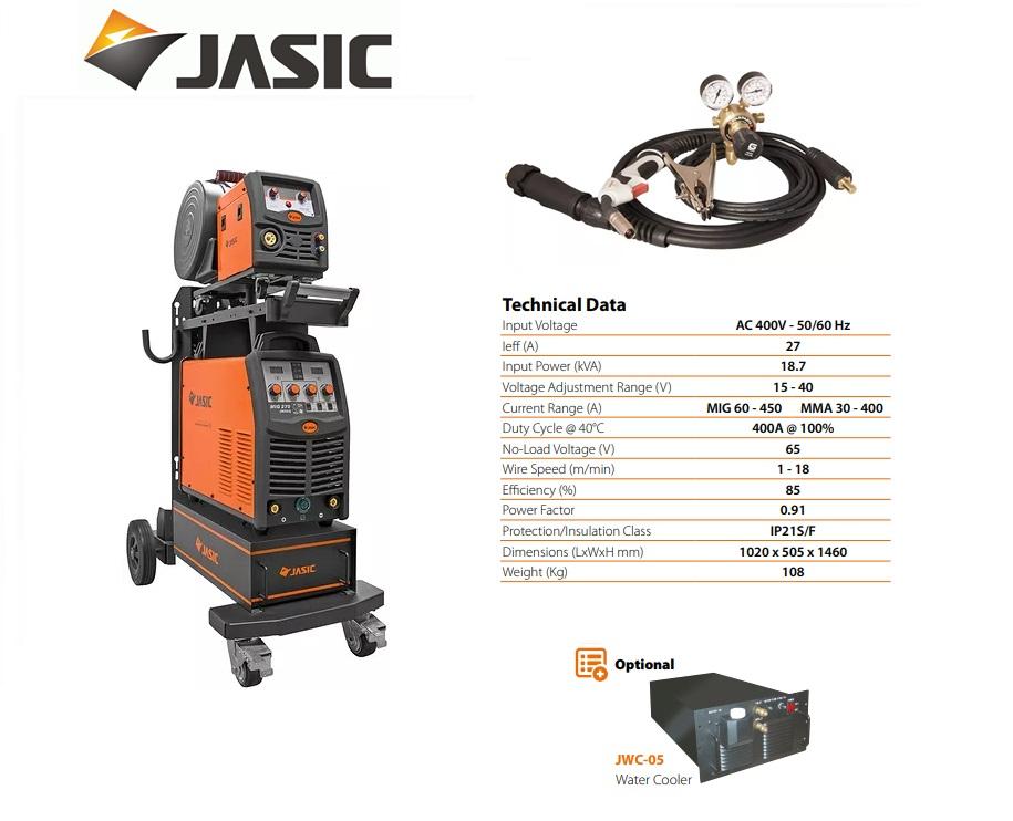 Jasic lasinverter MIG 450S met losse draadkoffer 400V