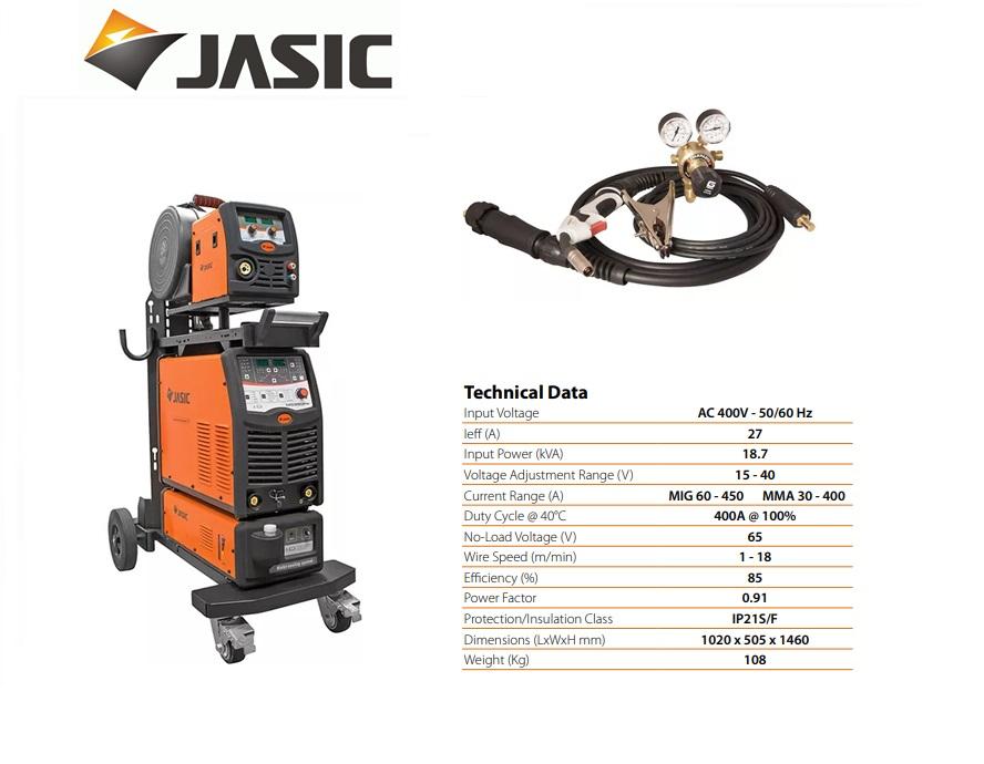 Jasic lasinverter MIG 450 Multi Process Separate Water Cooled 400V