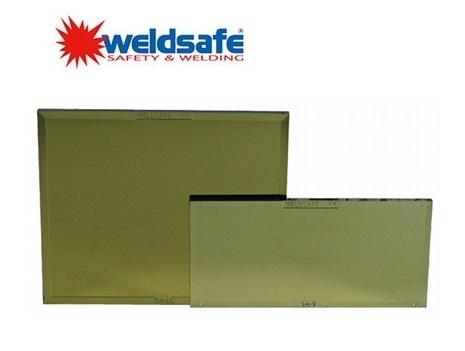 Weldsafe PC lasglas goud 51x108mm kleur 9