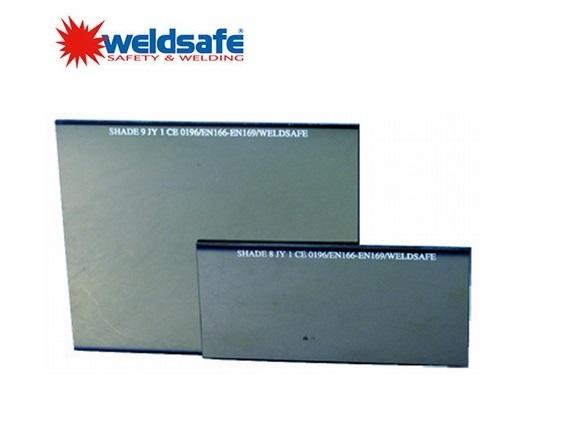 Weldsafe Spiegelgecoat lasglas 90x110mm kleur 9