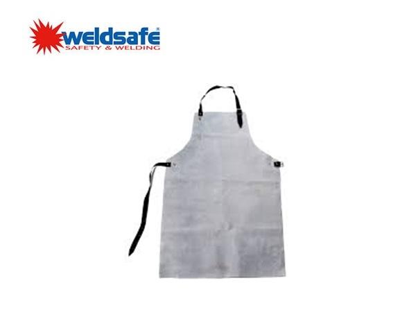 Weldsafe lasschort grijs splitleder 90x70cm