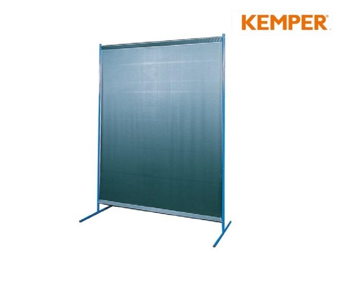 1-delige laswand met foliebespanning S0, glashelder Kemper