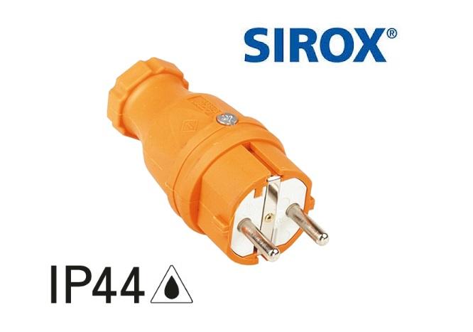 Rubber stekker IP44 10-/16 A, 250V