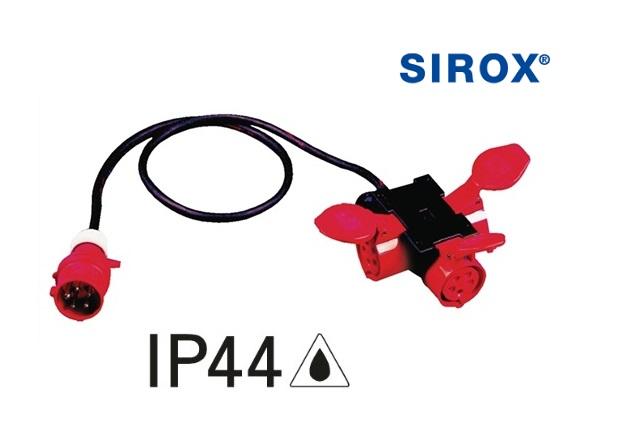 CEE-adapter IP44 1xCEE/3xkopp
