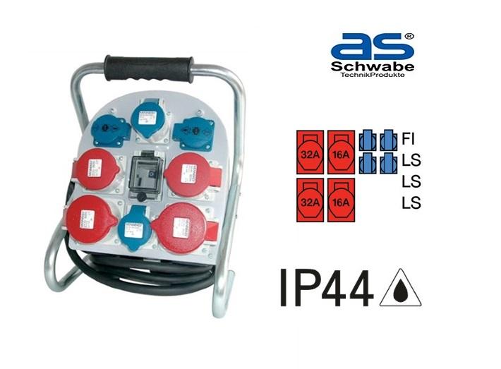 Bouwstroomverdeler IP44 32A 400V 5-polig