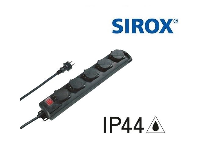 Stekkerdoos IP 44 5-voudige 230 V, 50 Hz, 16 A