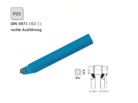 Draaibeitel DIN 4971 rechts P20 | DKMTools - DKM Tools
