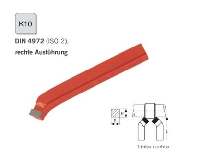 Gebogen ruwbeitel DIN 4972 rechts K10 | DKMTools - DKM Tools