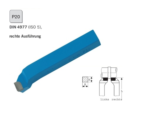 Zijbeitel DIN 4977 rechts P20 | DKMTools - DKM Tools