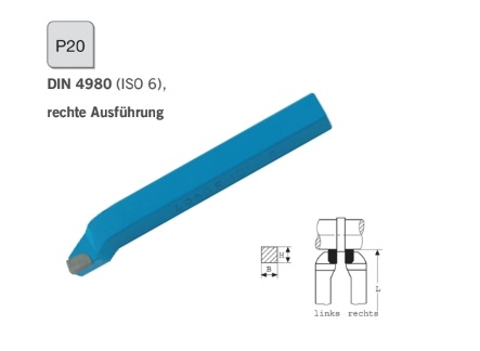 Mesbeitel DIN 4980 rechts P20 | DKMTools - DKM Tools