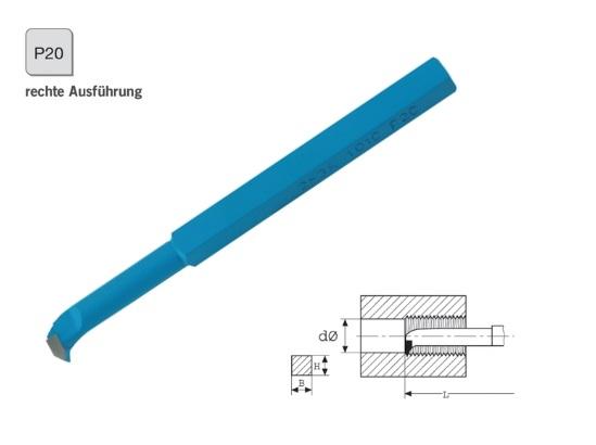 Binnendraadbeitel DIN 283 rechts P20 | DKMTools - DKM Tools