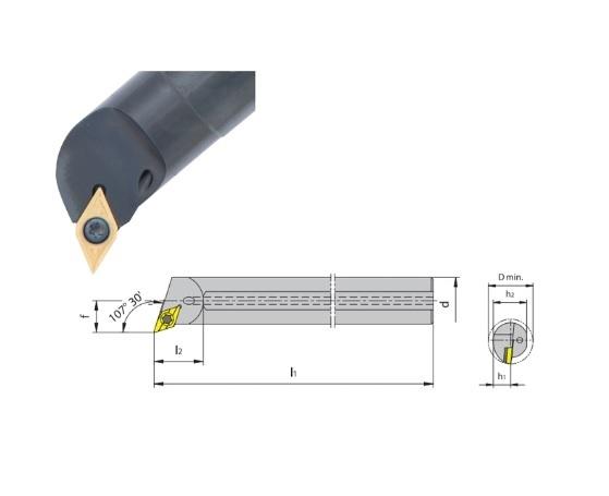 Boorstang SDQC 107 koelmiddeltoevoer | DKMTools - DKM Tools