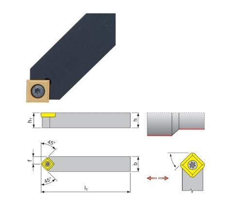 Klemdraaihouder SSDC 45 | DKMTools - DKM Tools