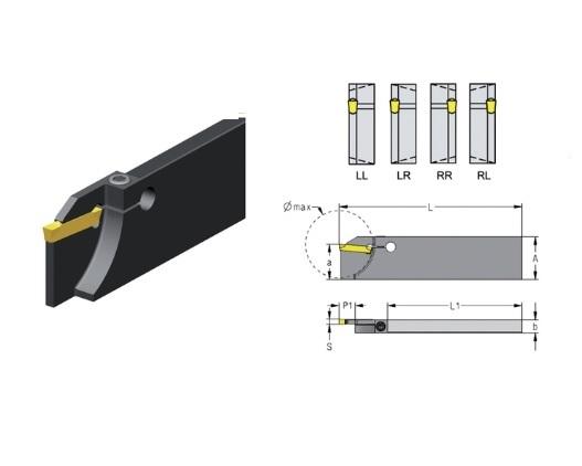 Afsteekhouder met schroefvergrendeling CXCB | DKMTools - DKM Tools