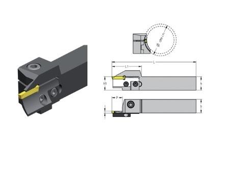 Snijplaathouder vlakke insteek CXCR | DKMTools - DKM Tools