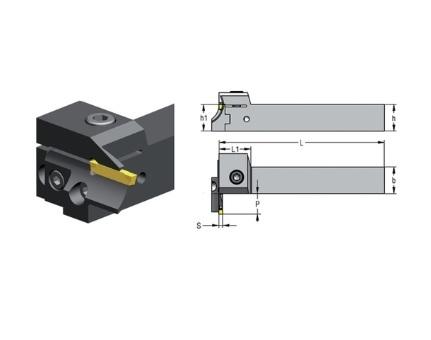 Snijplaathouder 90 vlakke insteek CXCR | DKMTools - DKM Tools