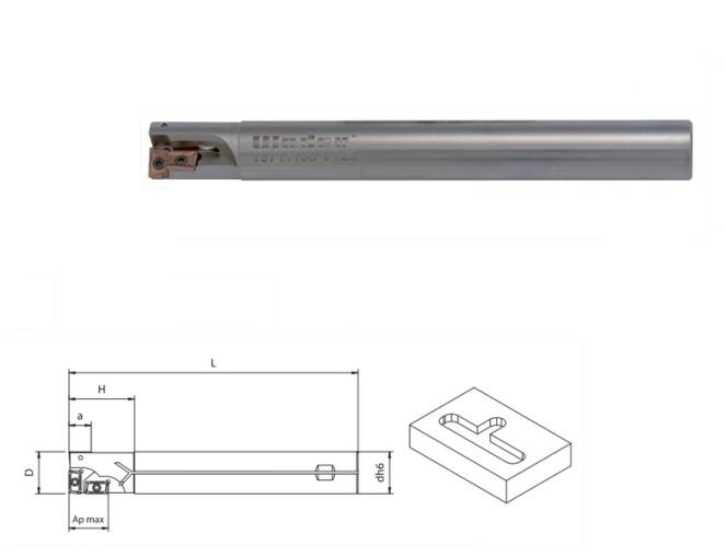 Boorstang Opsteekfrees APKT 10 Met interne koeling | DKMTools - DKM Tools