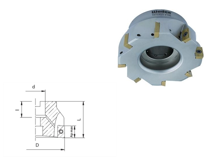 Hoekfrees APKT 16 Met interne koeling | DKMTools - DKM Tools