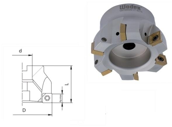 Hoekfrees SDMT 1205 Met interne koeling | DKMTools - DKM Tools