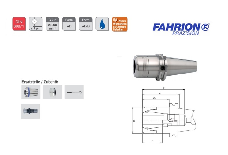 Fahrion Spantangboorhouders Centro P | DKMTools - DKM Tools