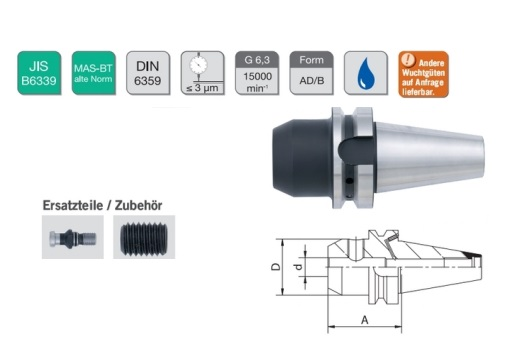 Freeshouder Weldon houder DIN6359   DKMTools - DKM Tools