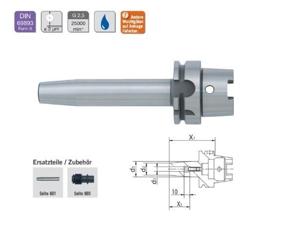 Krimphouder DIN69893 HSK A | DKMTools - DKM Tools