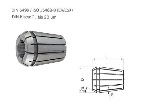 Spantang ER DIN ISO 15488 B DIN 6499   DKMTools - DKM Tools