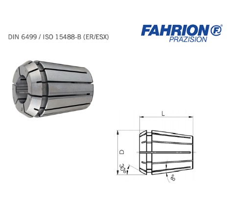 Spantang GER B DIN ISO 15488 B DIN 6499 ER ESX | DKMTools - DKM Tools