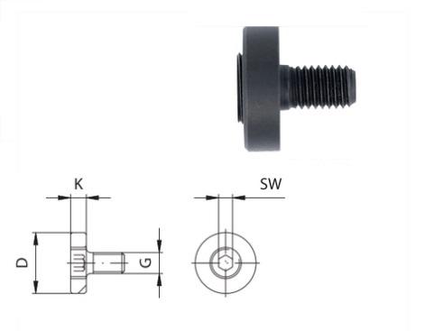 Spanbout met zeskant | DKMTools - DKM Tools